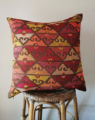 crewel work pillow