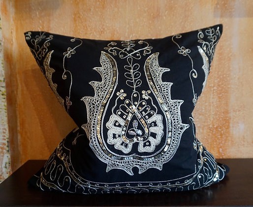 Udaipur Embellished Embroidered Cushion Cover FREE SHIPPING