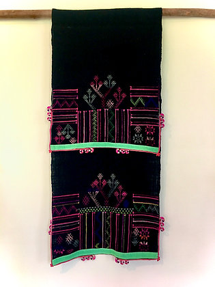 Rare Vintage Yao Mien Hill Tribe Woven Textile Wall Hanging- FREE SHIPPING