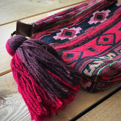 Navajo Make Up Travel Bag- Kilm Style Pink Geometric