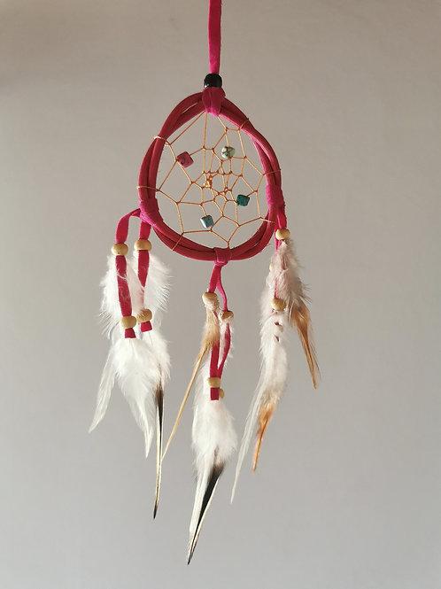 Pink Spirit Feather Dreamcatcher