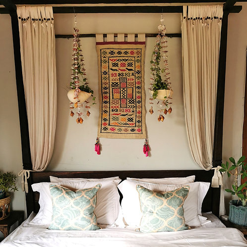 RARE Gisele Vintage Moroccan Kilim Wall Tapestry- FREE DHL shipping