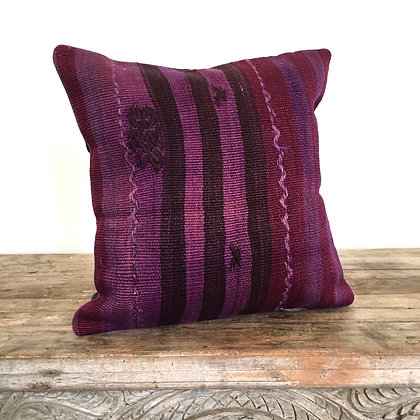 purple wool pillow