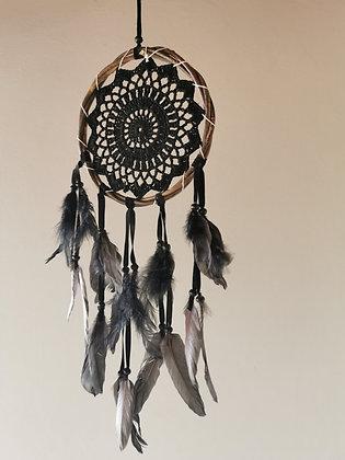 Spirit Sense Crochet Dreamcatcher- Black