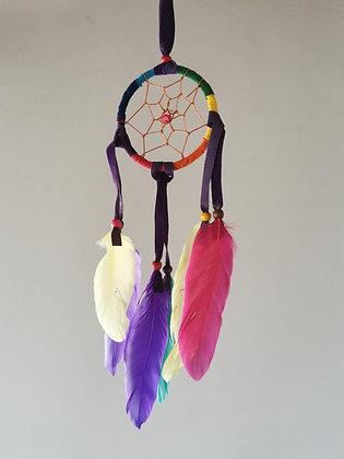 Rainbow Red Drop Feather Dreamcatcher