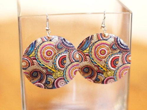 Pearly Queen Earrings- Boho Mandala