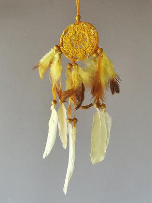 Mini Soleil Macrame Feather Dreamcatcher