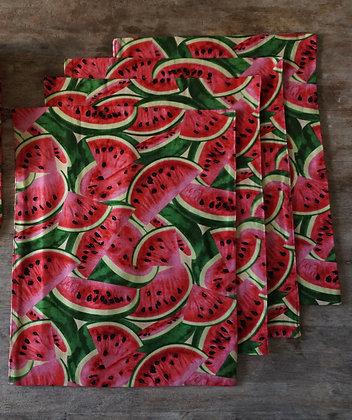 Set of 4 Tutti Frutti Watermelon Place Mats- FREE SHIPPING