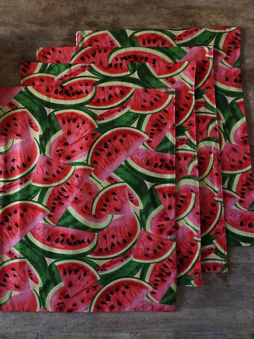 Set of 4 Tutti Frutti Watermelon Place Mats