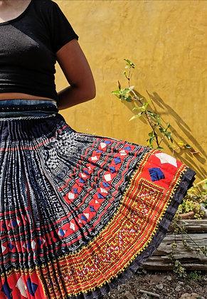 Cardi Vintage Hmong Indigo Skirt Hmong Indigo Hemp Cotton