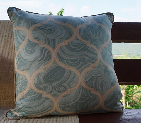 Tony Duquette 'Gemstone Grillwork' Amazonite Cushion Cover FREE SHIPPING