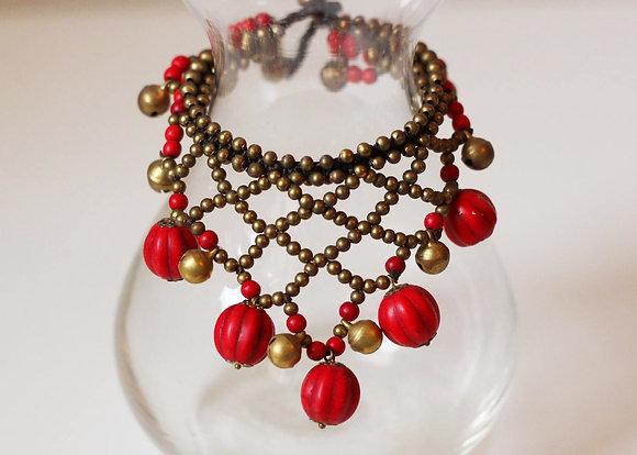 Jasmine Bracelet- Ruby Red