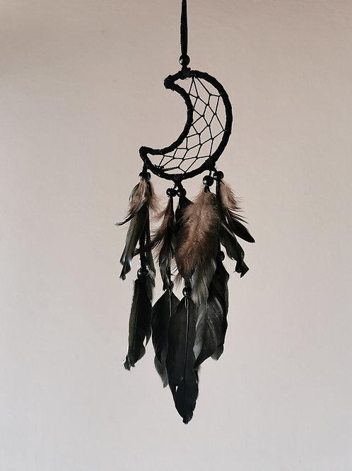 Dark Moon Feather Dream Catcher