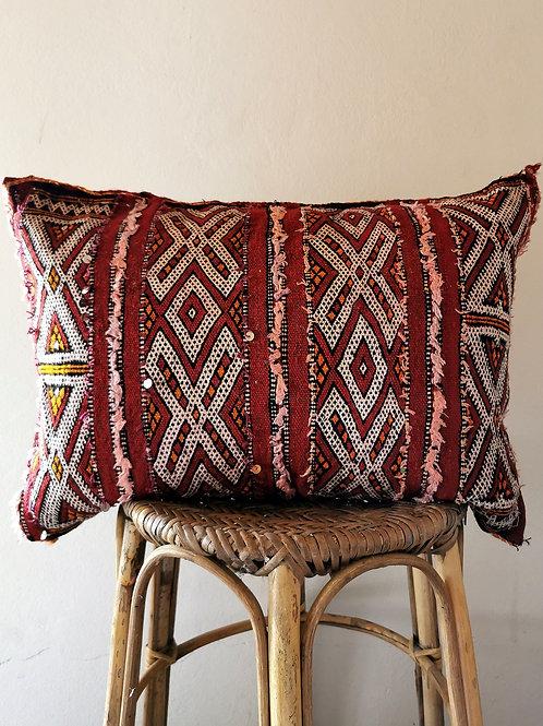 red handira wedding pillow
