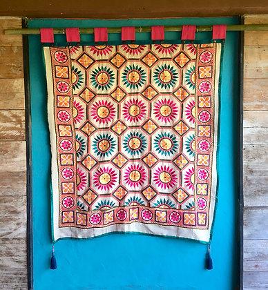 Sunshine Mandala Embroidered Wall Hanging Tapestry- FREE SHIPPING