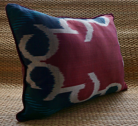 Coccine Ikat Silk Cushion Cover FREE SHIPPING