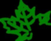 Logo Ahornblatt grün.