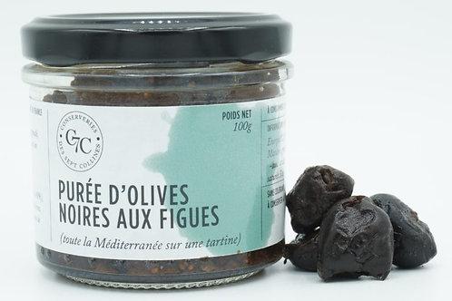 Purée d'olives noires aux figues (vegan)