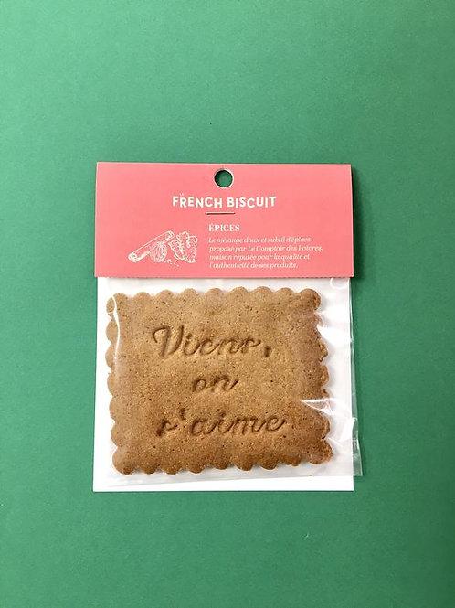 Méga Biscuit aux épices de Noël - Le French Biscuit