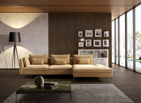 Fotografía de sofá modular hecha en Nohales