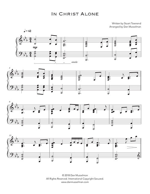 In Christ Alone Sheet Music