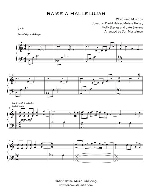 Raise a Hallelujah (Simple Worship)