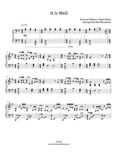 It Is Well Bethel Sheet Music