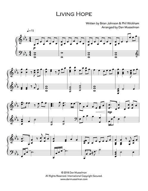 Living Hope Sheet Music
