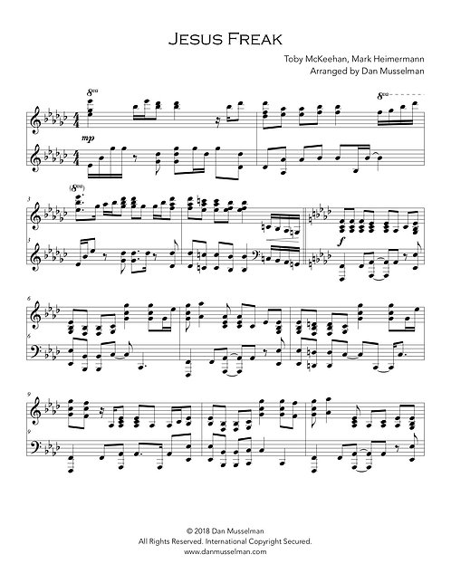 Jesus Freak Sheet Music