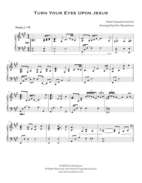 Turn Your Eyes Upon Jesus Sheet Music