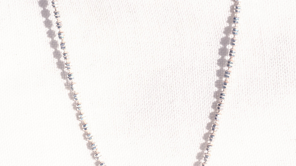 Tiny Silver Pearl Chain 455 mm