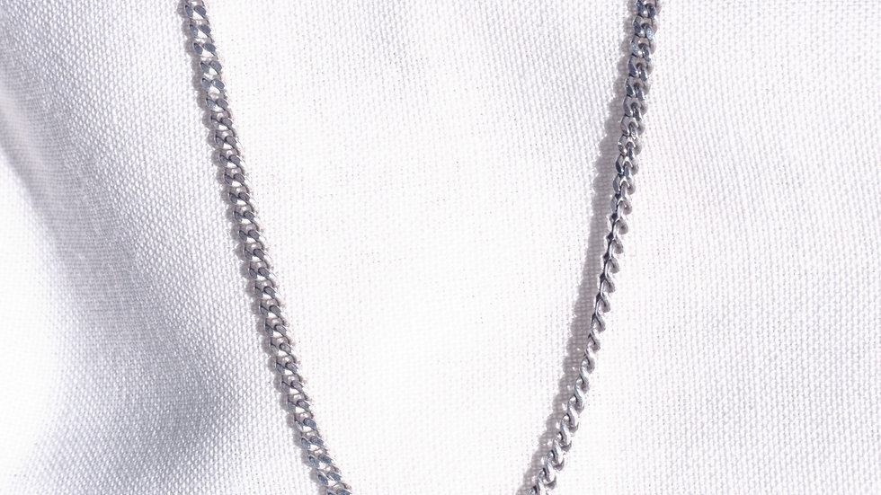 Serpentine Silver Chain 505 mm