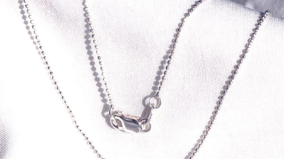 Delicate Silver Pearl Chain 455 mm