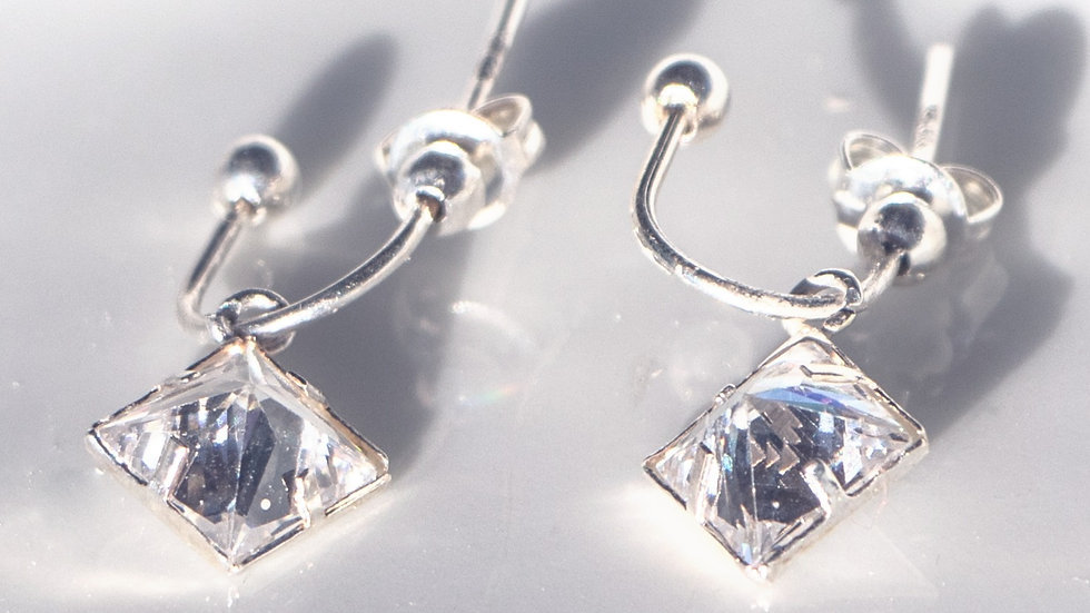 Hanging Diamond Shaped Crystals
