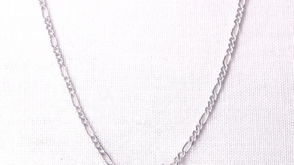 Fine Triple Link Silver Chain 505 mm