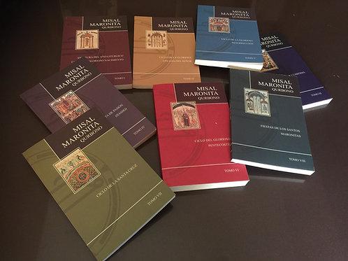 MISAL MARONITA (Qurbono) en español, según la edición típica de Bkerke (8 tomos)