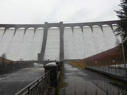 Claerwen Dam in Full Flow.JPG