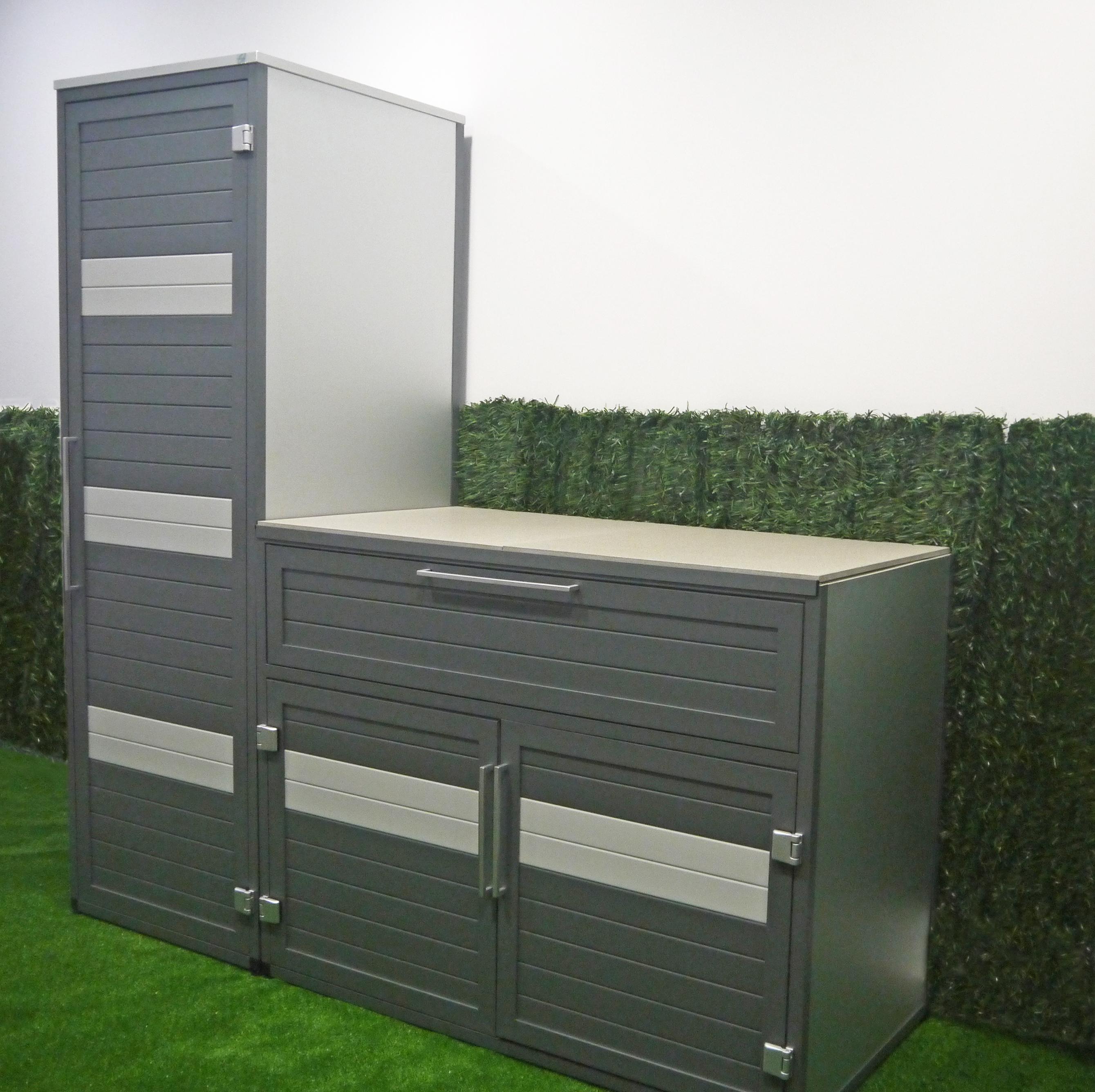 Moble exterior d'alumini