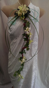 Wedding Flower Necklace, Briar Rose Flowers, Warkworth.