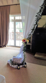 Curtain Garland with Flowers, Briar Rose Flowers, Warkworth.