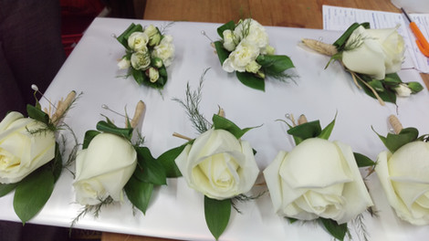 Buttonholes, Briar Rose Flowers, Warkworth.