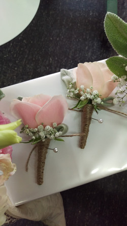 Wedding Buttonholes with Twine
