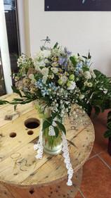 Rustic Wedding Bouquet, Briar Rose Flowers, Warkworth.