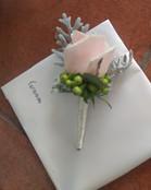 Wedding Buttonhole, Briar Rose Flowers, Warkworth.