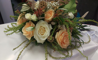 Wild Rustic Wedding Bouquet, Briar Rose Flowers, Warkworth.