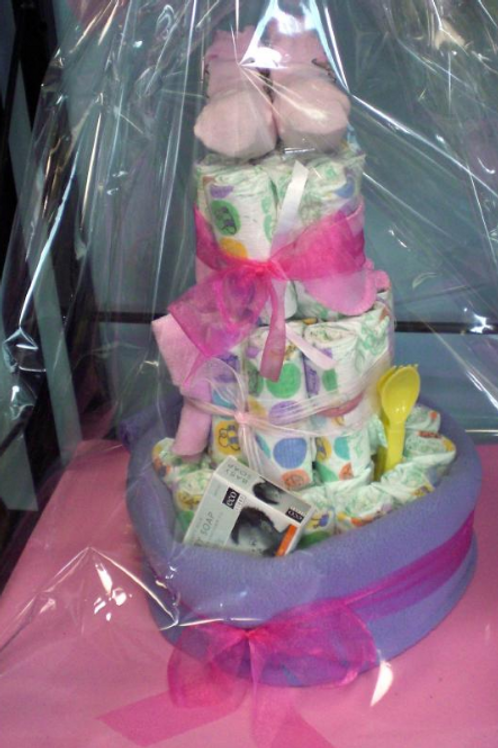 Nappy Cake - Baby Girl, prices from...