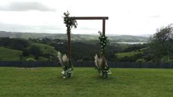 Outdoor Wedding Arch Flowers
