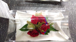 Corsage - Red & Green