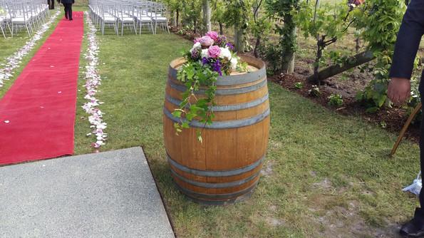 Wedding Aisle Petals and Flower Arrangement, Briar Rose Flowers, Warkworth.