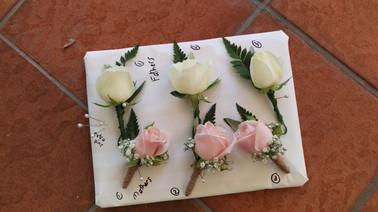 Buttonholes, Briar Rose Flowers, Warkworth.